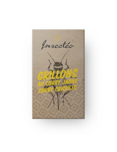 Grillons au curry - INSECTEO