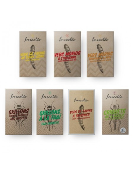 Super Pack Apéro d'insectes comestibles - INSECTÉO